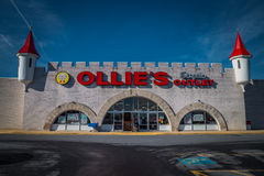 Exterior of Ollies Bargain Outlet Location. Lancaster, PA - January 15, 2017: Exterior of Ollie`s Bargain Outlete Retail Location. Ollie's is a chain that Royalty Free Stock Image