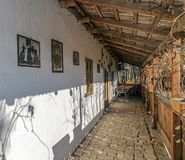 Exterior at one farmhouse of slovak ethnics in Banat region, Rom. NADLAC, ROMANIA - NOVEMBER 29, 2016: Exterior of one farmhouse of Slovak ethnics.The Banat Stock Photos