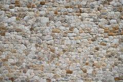 Exterior original do fundo velho medieval da textura da parede Foto de Stock Royalty Free