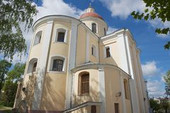Exterior of the Orthodox church of the Holy Spirit in Vilnius, Lithuania. Royalty Free Stock Photography