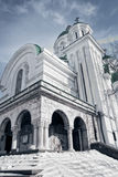 Exterior of orthodox old antique church Stock Photos