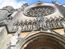 Exterior outdoor photo of a church cathedral Royalty Free Stock Image