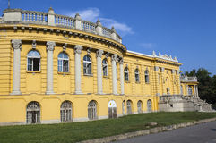 Exterior of the Palace Housing thr Szechenyi Baths in Budapest Stock Images