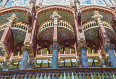 Exterior of Palau de la Musica in Barcelona Stock Images