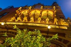 Exterior  of Palau de la Musica Catalana in Barcelona Royalty Free Stock Image