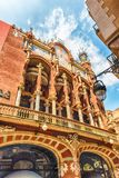 Exterior of Palau de la Musica Catalana, Barcelona, Catalonia, S. Exterior of Palau de la Musica Catalana, modernist Concert Hall in Barcelona, Catalonia, Spain royalty free stock photos