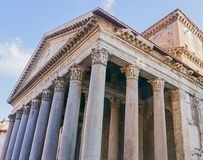 The Pantheon in Rome, Italy. The Exterior of the Pantheon in Rome, Italy Stock Image