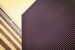 Exterior parallel line shape of Modern building Stock Images
