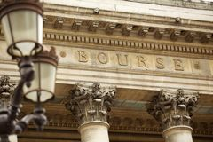 Exterior of The Paris Bourse Stock Photography