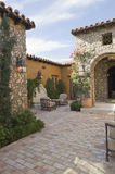 Exterior Paved Courtyard Stock Images