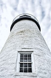 The exterior of Pemaquid Point Maine lighthouse Royalty Free Stock Image