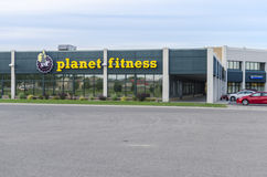Exterior Of Planet Fitness At Industrial Area Stock Photography