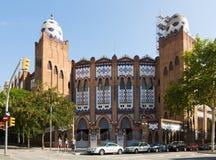Exterior of Plaza Monumental de Barcelona Stock Photo