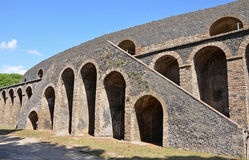 Exterior of the Pompeian Amphitheatre Stock Photography