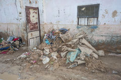 Exterior of poor African house following flooding disaster Royalty Free Stock Photography