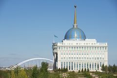 Exterior of the President palace in Astana, Kazakhstan. Stock Photography