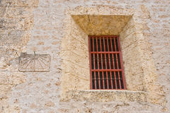 Exterior of prison cell window Royalty Free Stock Photos