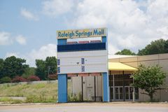 Raleigh Springs Mall, Memphis, Tennessee. stock image