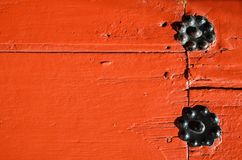Exterior red wooden plank Royalty Free Stock Photos