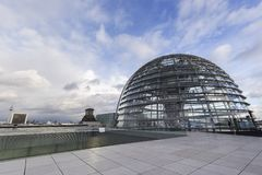 Exterior of the Reichstag dome in Berlin royalty free stock photo