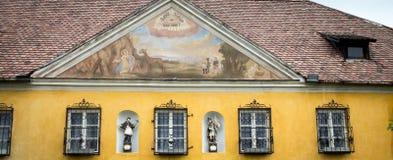 Exterior religious fresco Stock Photos