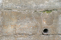 Exterior retaining wall with drainage Royalty Free Stock Photography