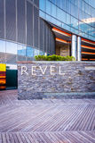The exterior of Revel Casino Hotel in Atlantic City, New Jersey. Royalty Free Stock Images
