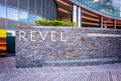 The exterior of Revel Casino Hotel in Atlantic City, New Jersey. Royalty Free Stock Photography