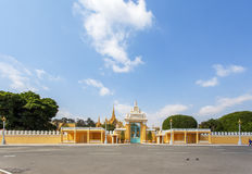 The exterior of Royal Palace Cambodia, Phnom Penh, Cambodia. The Royal Palace is a complex of buildings which serves as the royal residence of the king of Royalty Free Stock Photo