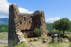Exterior of ruins near Jvari Monastery Royalty Free Stock Photo