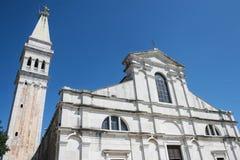 Exterior of Saint Euphemia church in Rovinj Stock Images