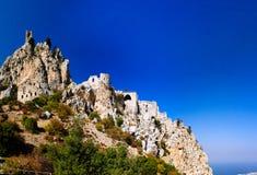 Exterior of Saint Hilarion Castle, Kirenia, Northen Cyprus Royalty Free Stock Photo