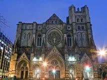 Exterior of Saint John Divine Church in NYC Stock Photos