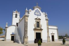 Exterior of the Saint Lawrence of Rome church in Almancil, Portugal. Stock Photos