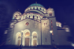 Exterior of Saint Sava Church in Belgrade, Serbia Stock Photo