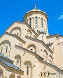 Exterior of Sameba church, Tbilisi Royalty Free Stock Images