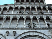 Exterior of San Michel del Forno Church Lucca Italy Stock Images
