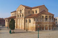 Exterior of the Santa Maria and San Donato Cathedral in Murano, Italy. Royalty Free Stock Photos
