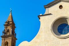Exterior of Santo Spirito, a church located in the Oltrarno quar Royalty Free Stock Photo