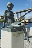 Exterior of the sculpture of Marilyn Monroe in Haugesund, Norway. Royalty Free Stock Photo