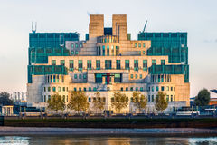 Exterior of Secret Intelligence Service Building. Exterior of Secret Intelligence Service SIS, MI6 building in London stock photo
