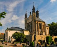 Exterior of the Sedlec Ossuary in Kutna Hora, Czech Republic at sunny summer day. Exterior of the Sedlec Ossuary & x28;Kostnice Sedlec& x29; in Kutna Hora, Czech royalty free stock photo