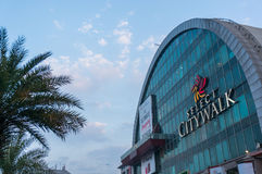 Exterior of Select citywalk delhi. Delhi, India - 31st Jan: Exterior of Select citywalk in Saket Delhi one of the most popular shopping destinations. Set against Stock Photography