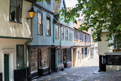 Exterior Of Shops On Elm Hill In Norwich Norfolk UK Royalty Free Stock Photos