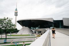 Exterior shot of BMW Welt in Munich Royalty Free Stock Photography