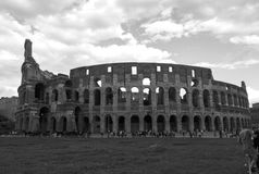 Exterior Shot of the Colosseum in Rome Royalty Free Stock Photography