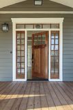 Exterior shot of an open Wooden Front Door Stock Photography