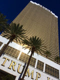 Exterior shot of Trump International Hotel Las Vegas by night Stock Photography