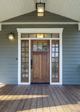 Exterior shot of a Wooden Front Door Stock Photo