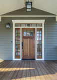 Exterior shot of a Wooden Front Door Stock Images